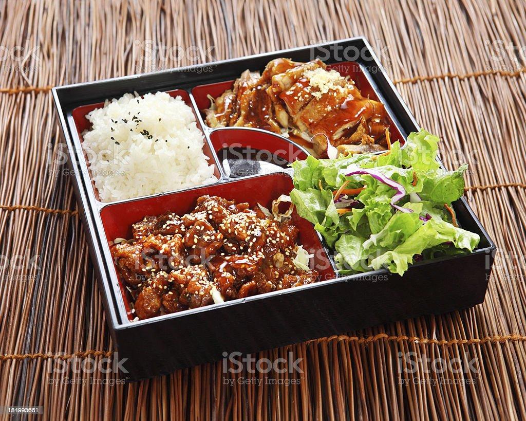 Chicken Teriyaki Bento royalty-free stock photo