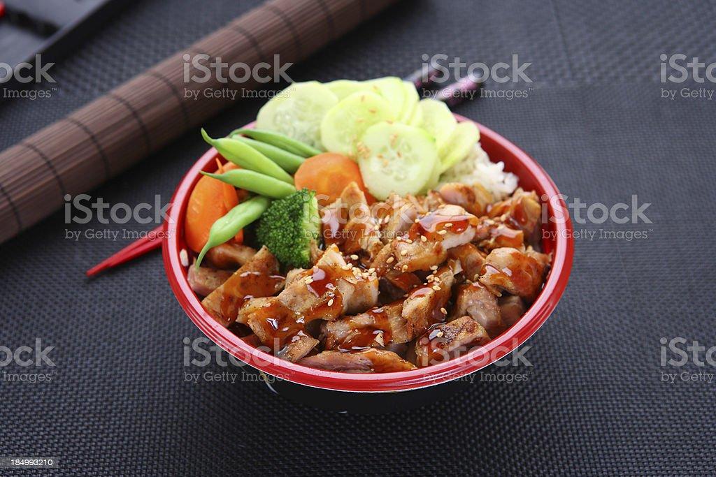 Chicken Teriyaki Bowl stock photo