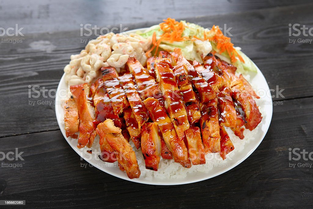 Chicken Teriyaki Combo stock photo