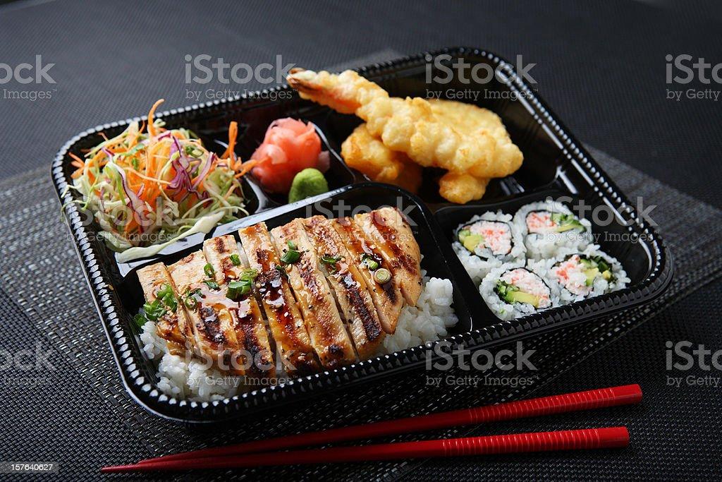 Chicken Teriyaki Lunch Box stock photo