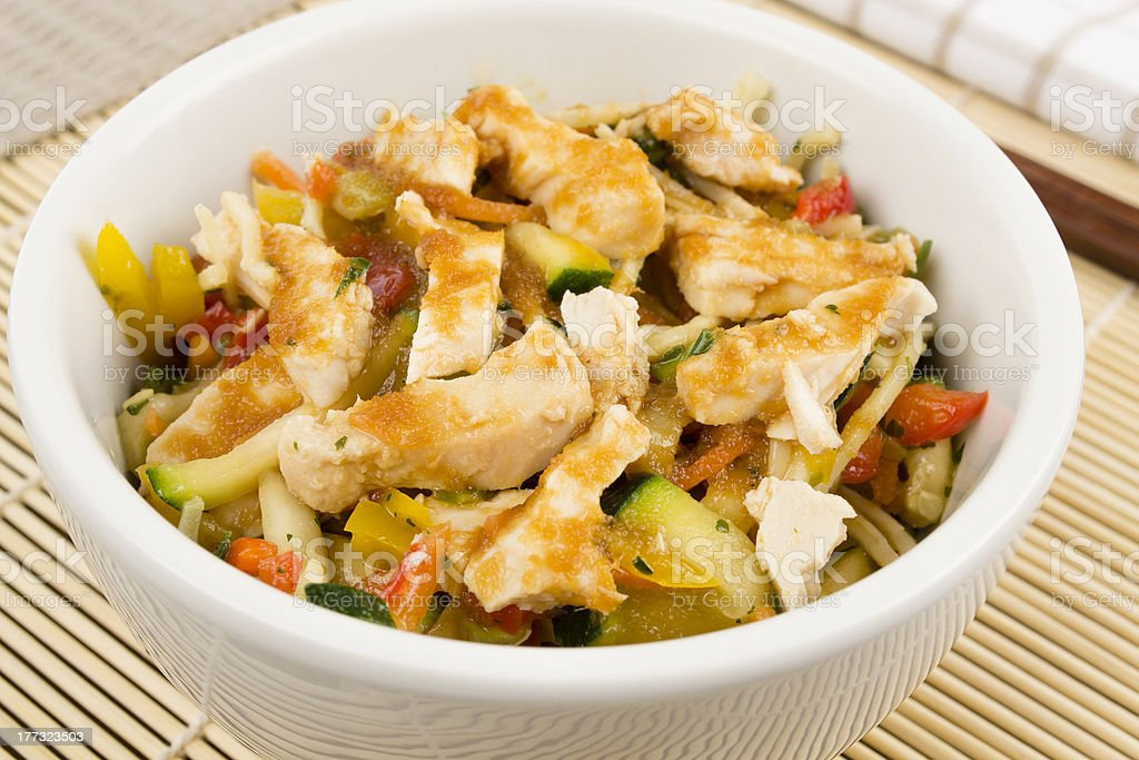 Chicken Teriyaki Noodles stock photo