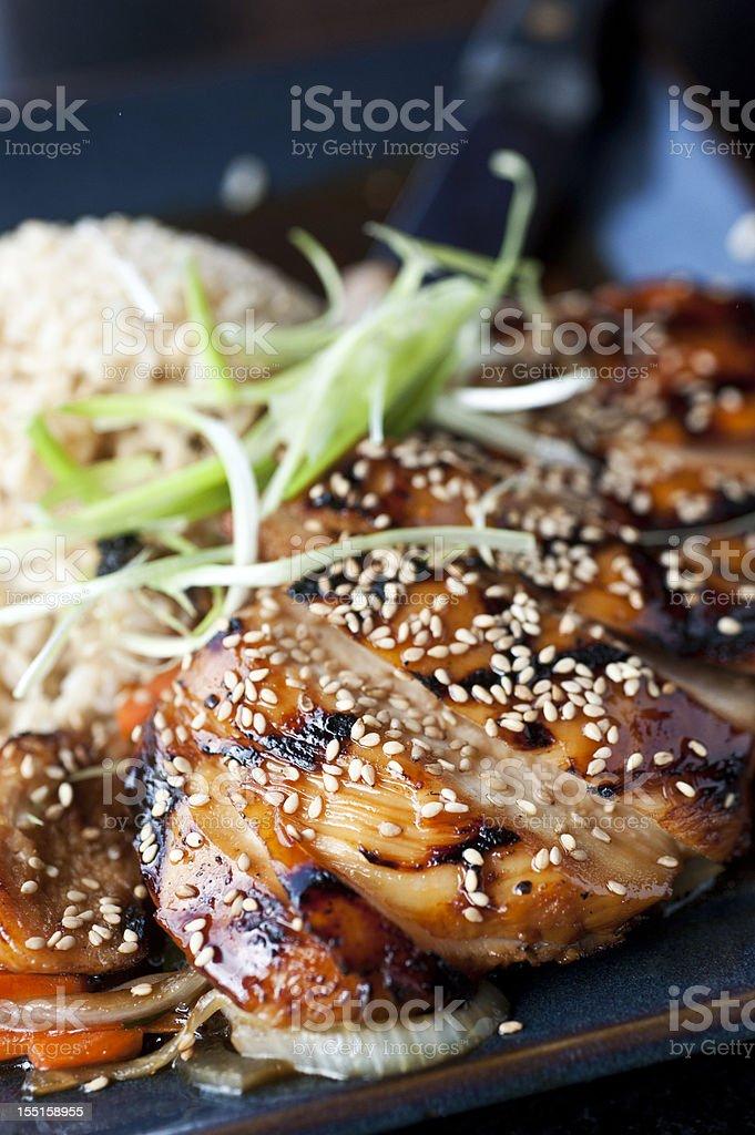 Chicken teriyaki stock photo
