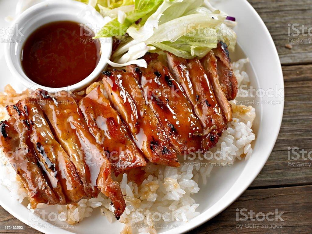 Chicken Teriyaki royalty-free stock photo
