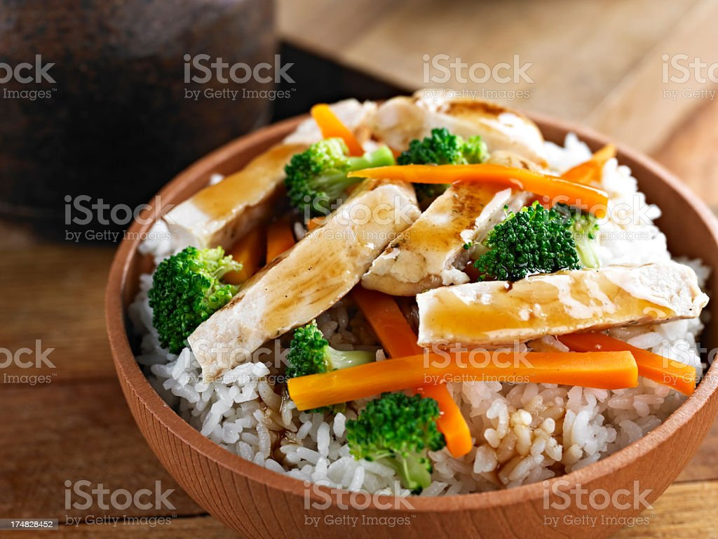 Chicken Teriyaki royalty-free stock photo
