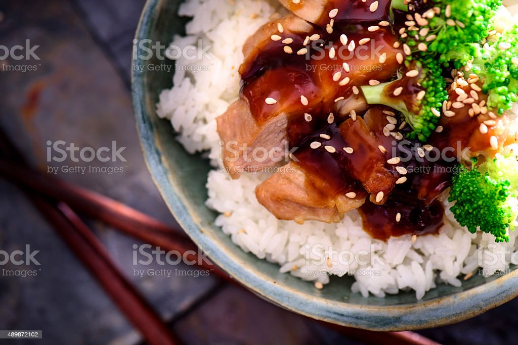 Chicken Teriyaki stock photo
