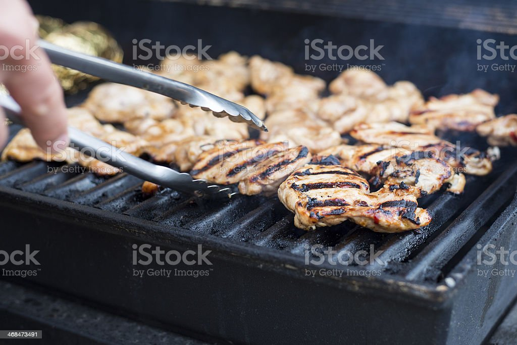 BBQ Chicken Thighs stock photo
