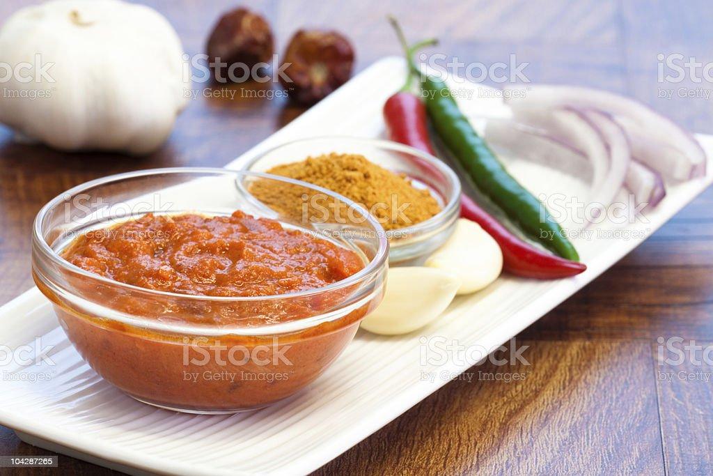 Chicken Tikka Masala Ingredients stock photo