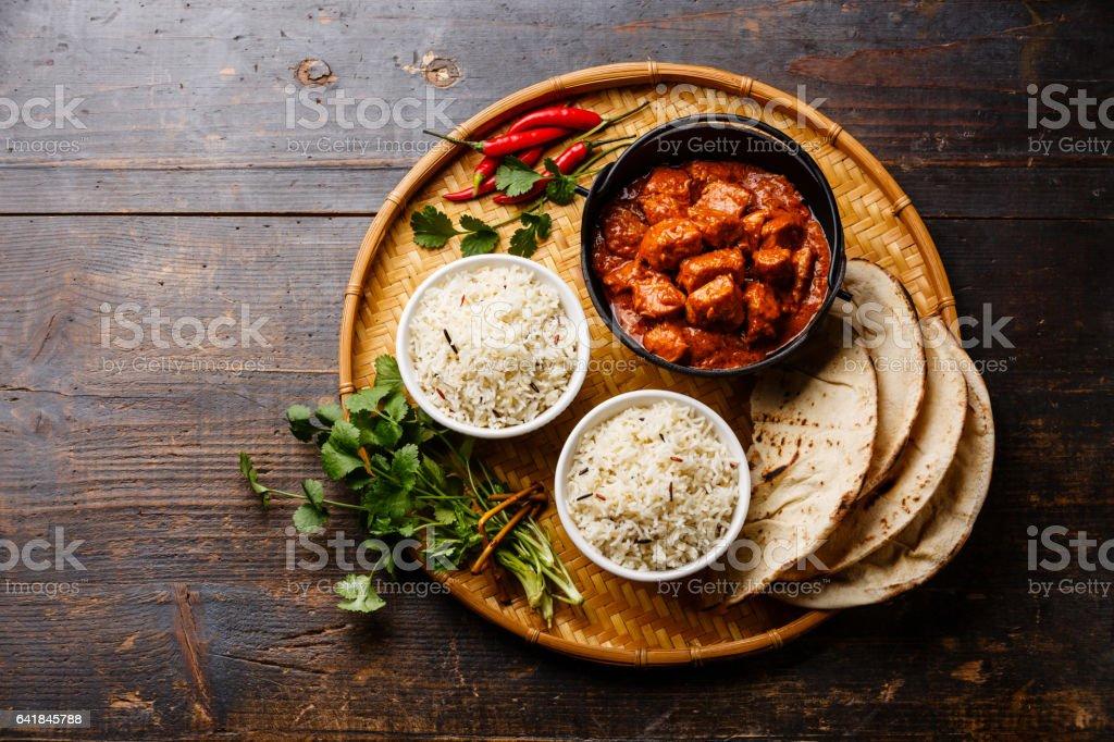 Poulet tikka masala curry épicé la viande alimentaire photo libre de droits