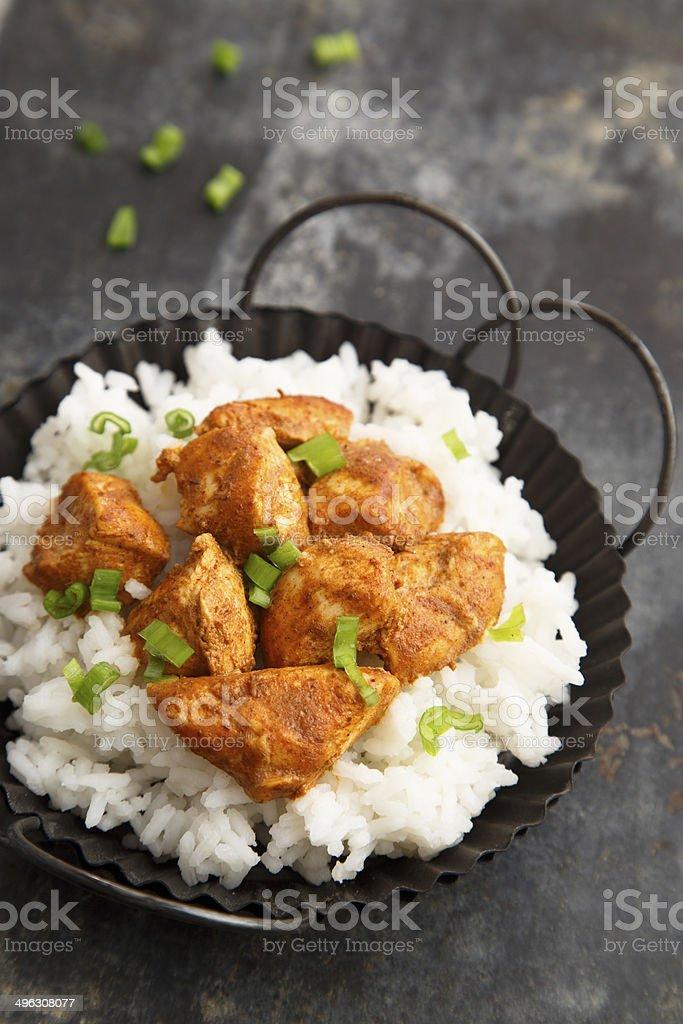 Chicken tikka stock photo