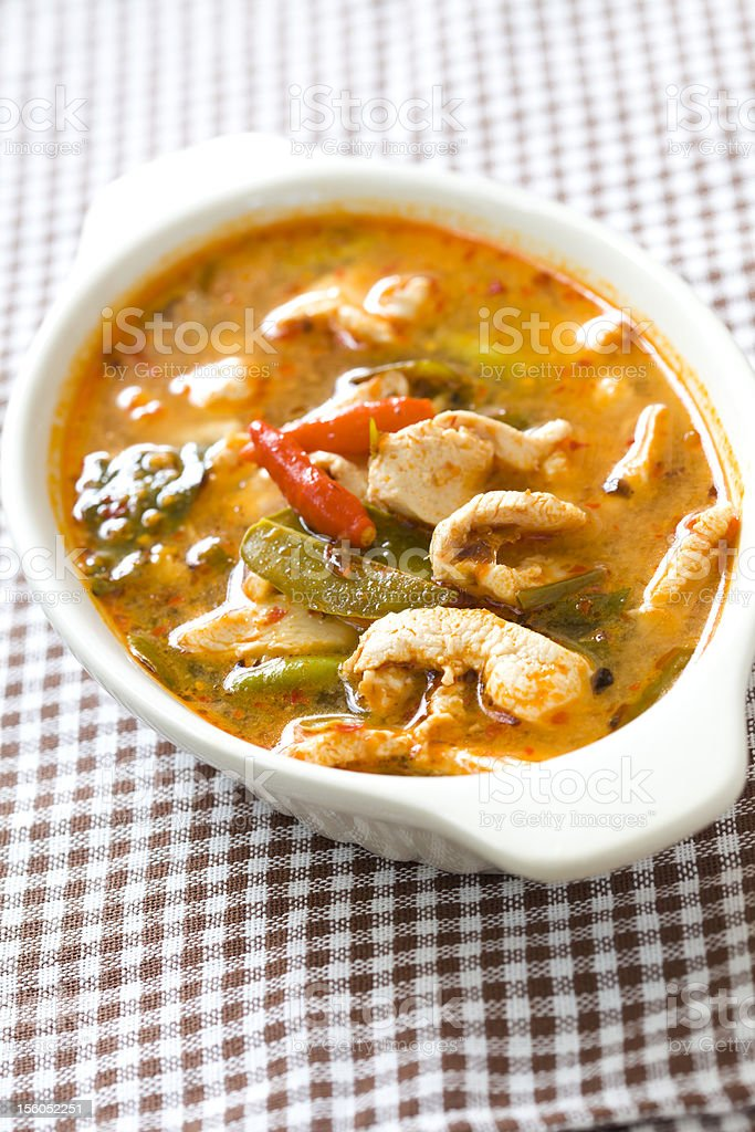 Chicken tom yum royalty-free stock photo