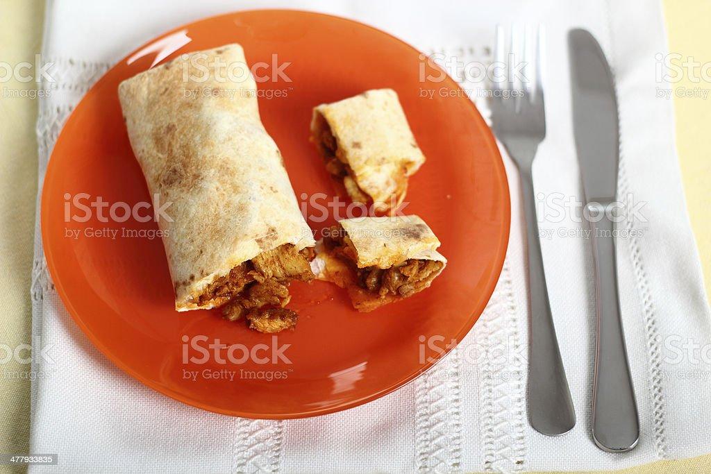 Chicken Tortilla royalty-free stock photo