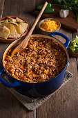 Chicken Tortilla Soup (or Taco Soup) in a Dutch Oven