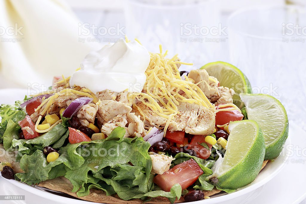 Chicken Tostadas stock photo