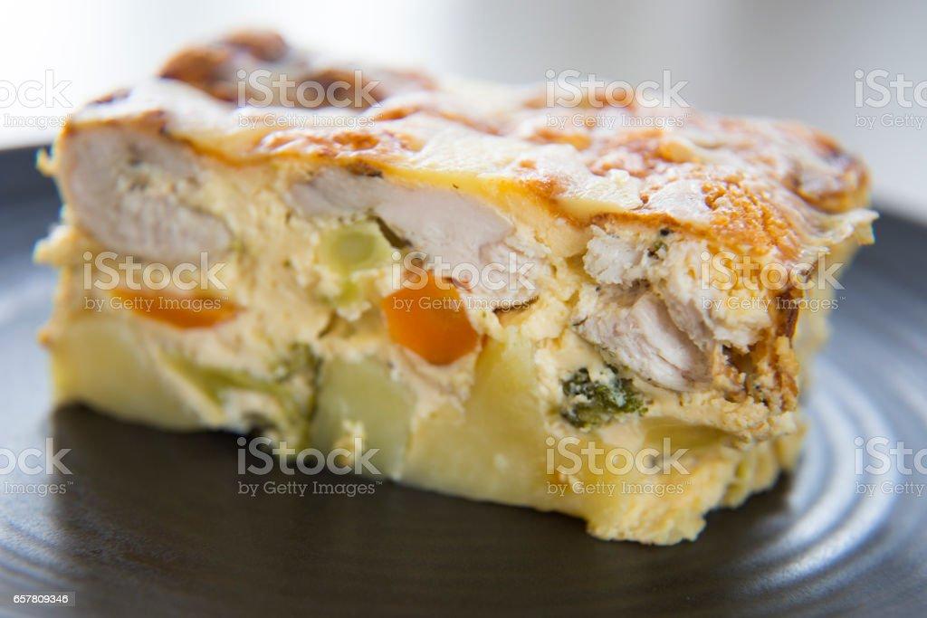 Chicken & Vegetable Frittata stock photo