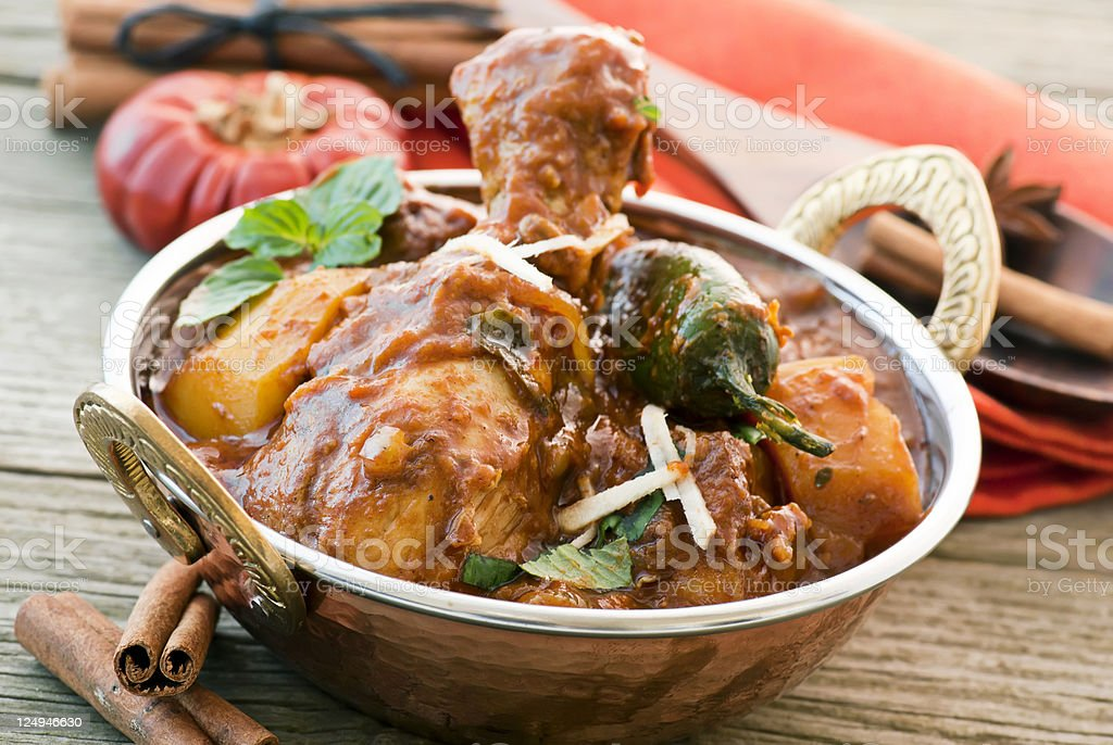 Chicken Vindaloo royalty-free stock photo