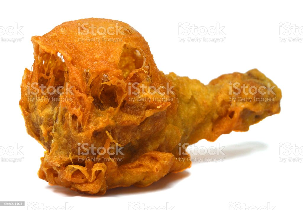 Chicken wing isolated on white background stock photo