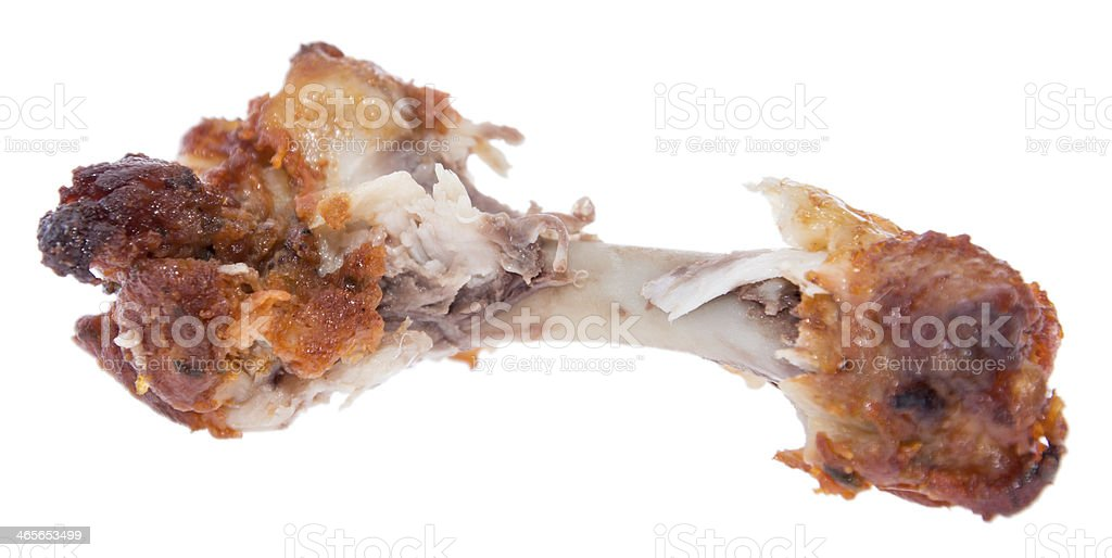 Chicken Wing on white background stock photo