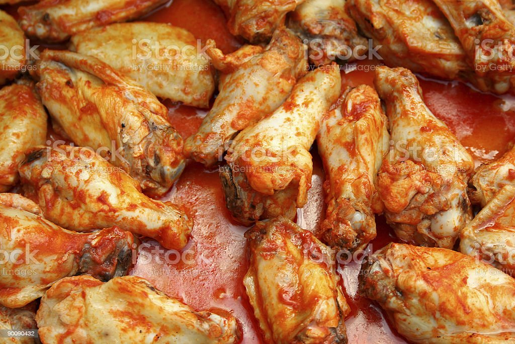 Chicken Wings Cooking stock photo