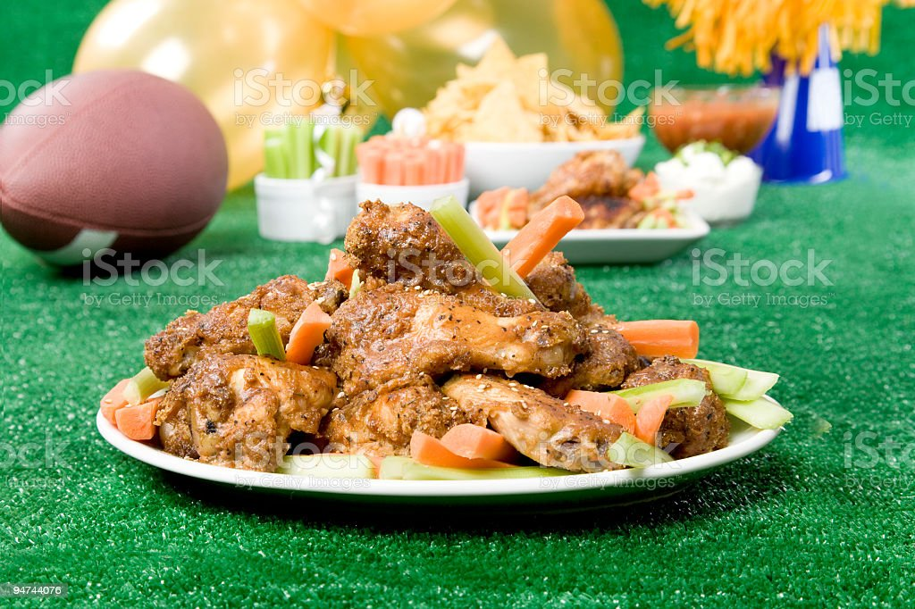 Chicken Wings on Superbowl Sunday royalty-free stock photo