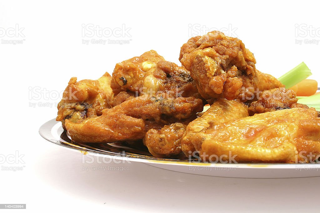 chicken wings on white royalty-free stock photo