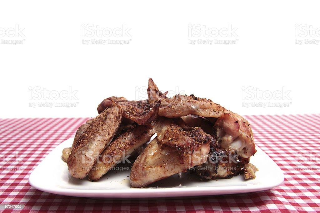 BBQ chicken wings. royalty-free stock photo