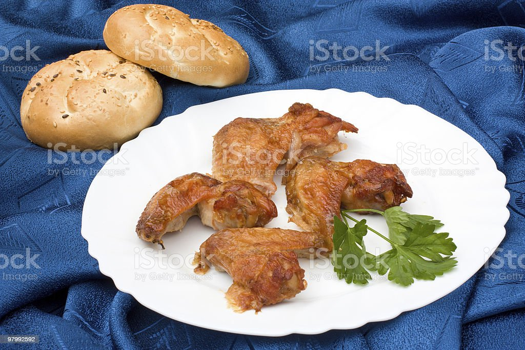 Chicken wings royalty free stockfoto