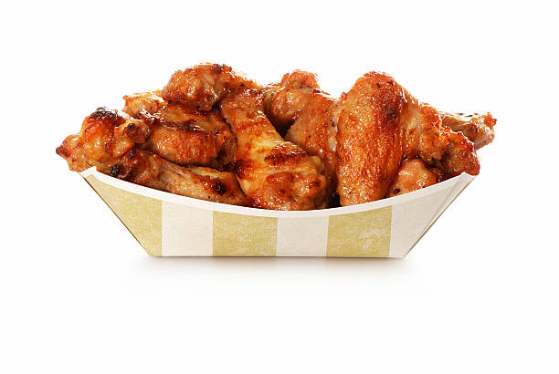chicken wings take out - animal wing stock photos and pictures
