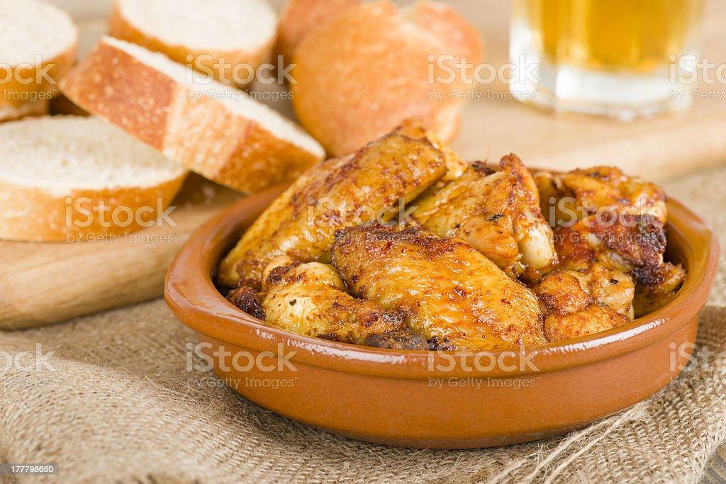 Pollo al Ajillo stock photo