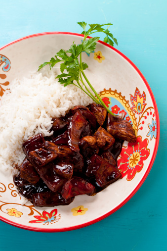 Chicken With Mole Sauce Stock Photo - Download Image Now