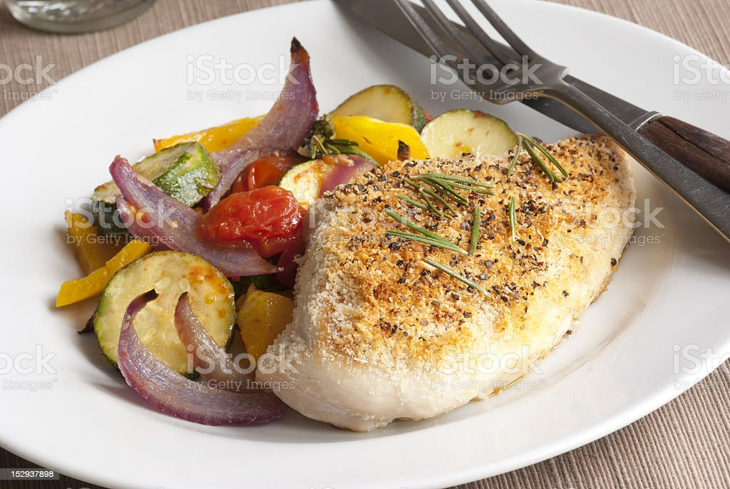 Chicken with vegetables royalty-free stock photo