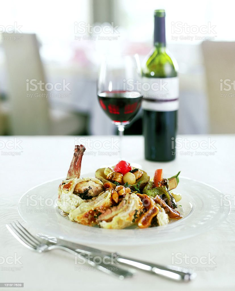 chicken with wine royalty-free stock photo