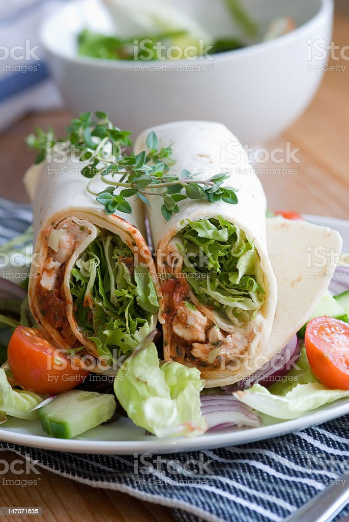 Chicken wrap royalty-free stock photo