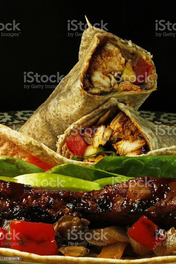 Chicken Wrap stock photo