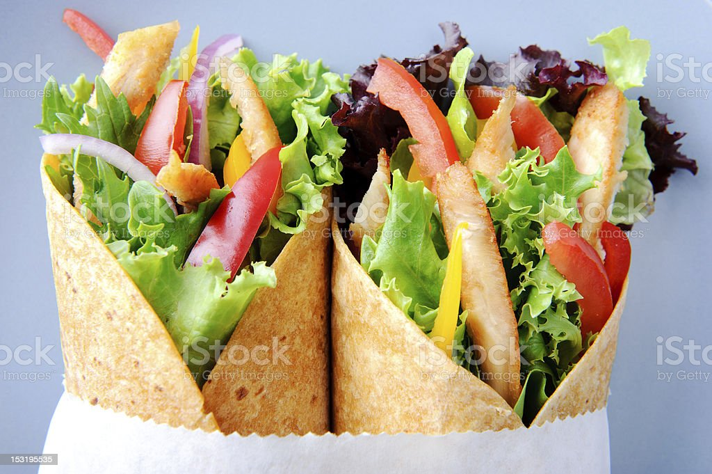 Chicken wrap salad royalty-free stock photo
