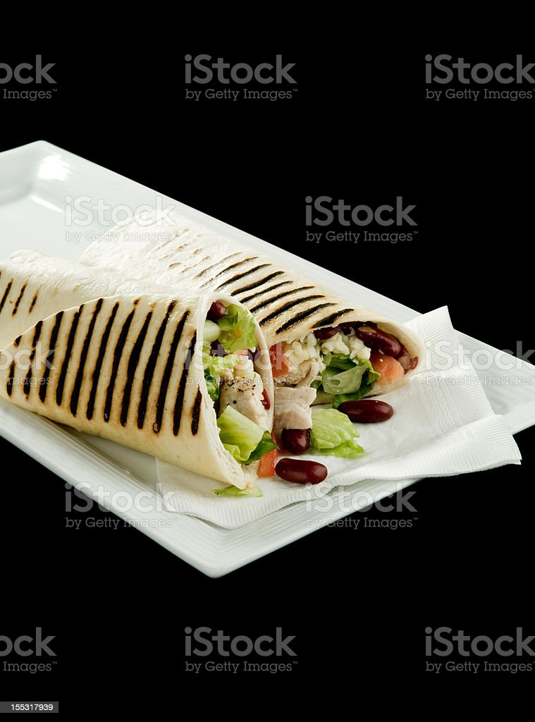 Chicken Wrap with red beans royalty-free stock photo