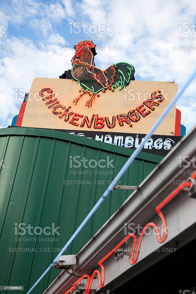 Chickenburger royalty-free stock photo