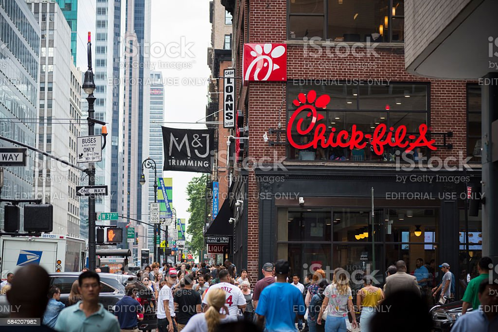 Chick-fil-A restaurant in New York City – Foto