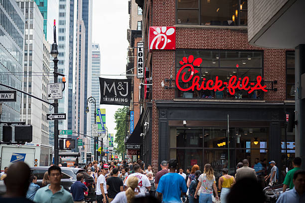 Chick-fil-A restaurant in New York City stock photo