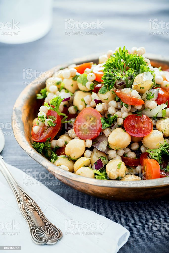 Chickpea and Couscous Salad royalty-free stock photo