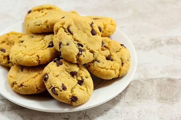 Chickpea flour cookies stock photo