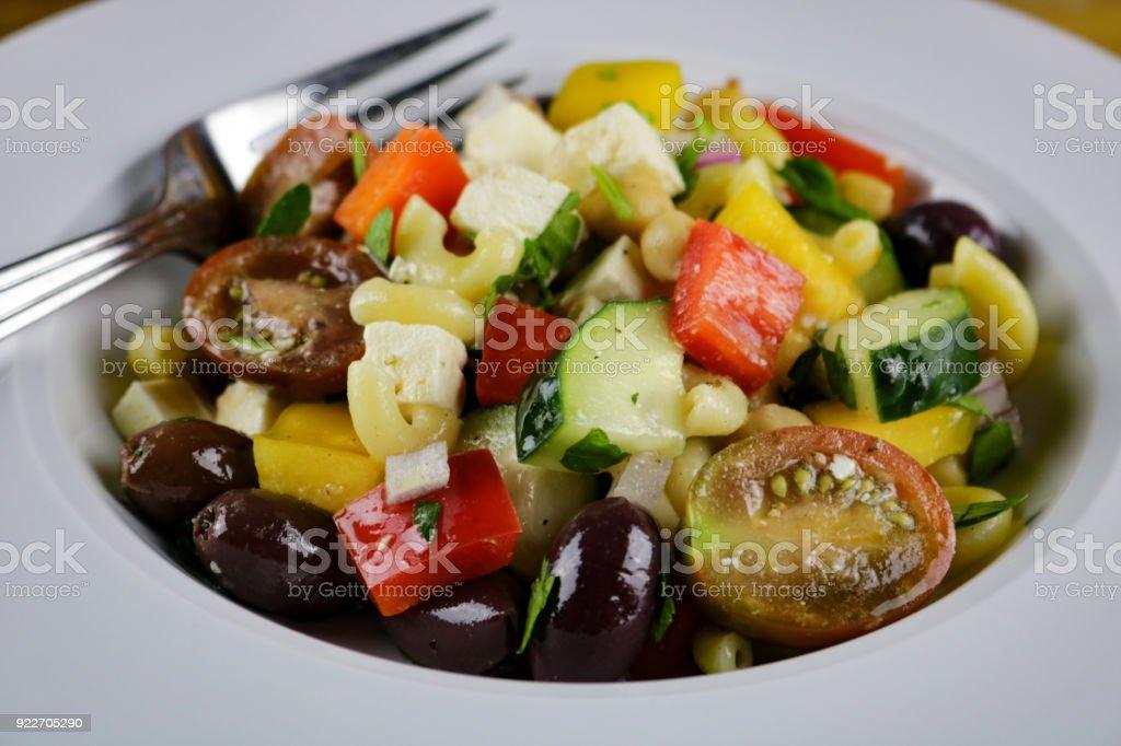 Chickpea Pasta Salad stock photo