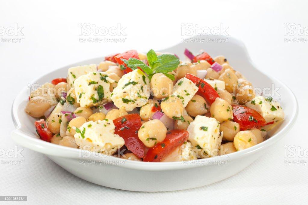 Chickpea Salad stock photo