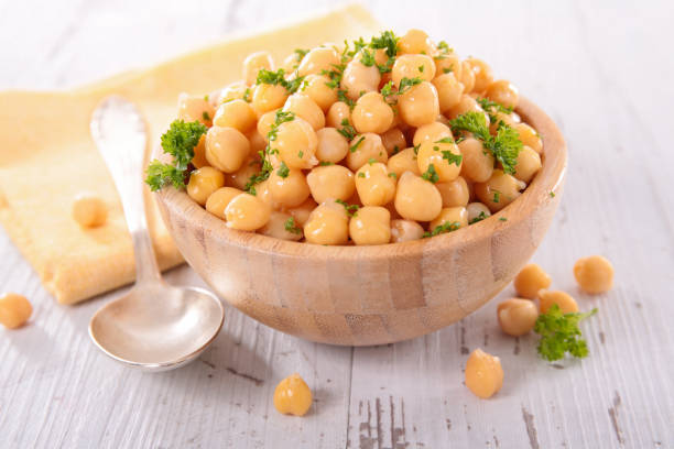 chickpea salad chickpea salad chick pea stock pictures, royalty-free photos & images