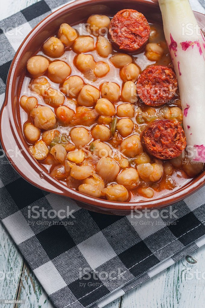 chickpea stew stock photo