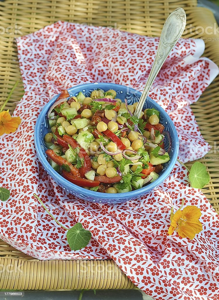 chickpeas and pepper salad royalty-free stock photo