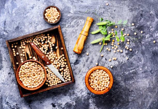 Chickpeas, the basis of vegetarian cuisine stock photo