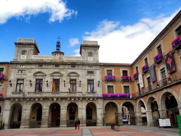 Chico Market Square, Ávila Spain stock photo