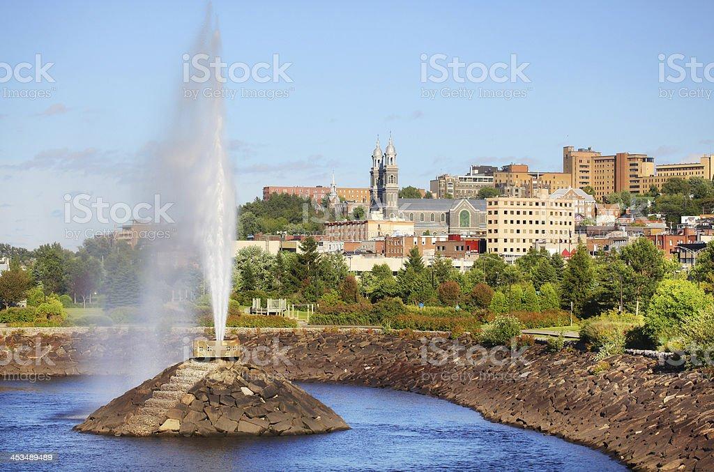 Chicoutimi City Fountain stock photo
