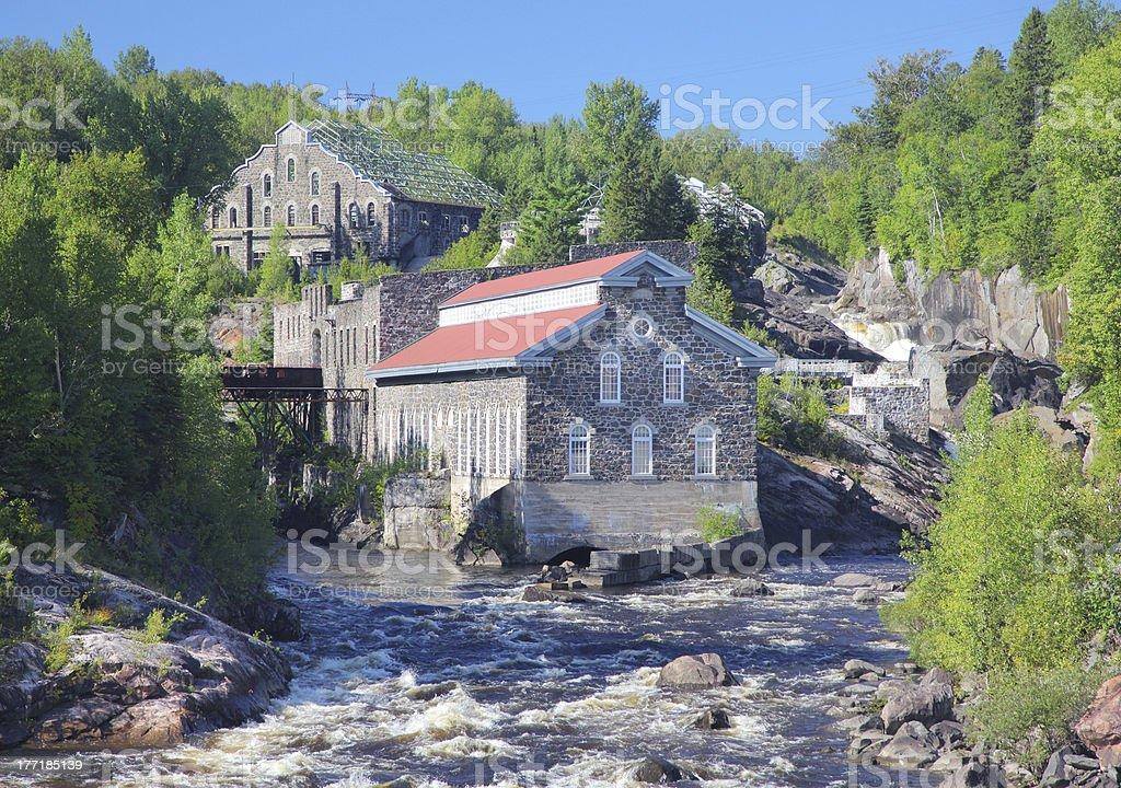 Chicoutimi Historic Landmark Buildings royalty-free stock photo