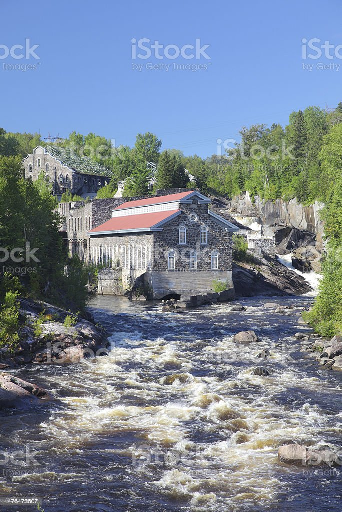 Chicoutimi Historical Old Paper Mill royalty-free stock photo